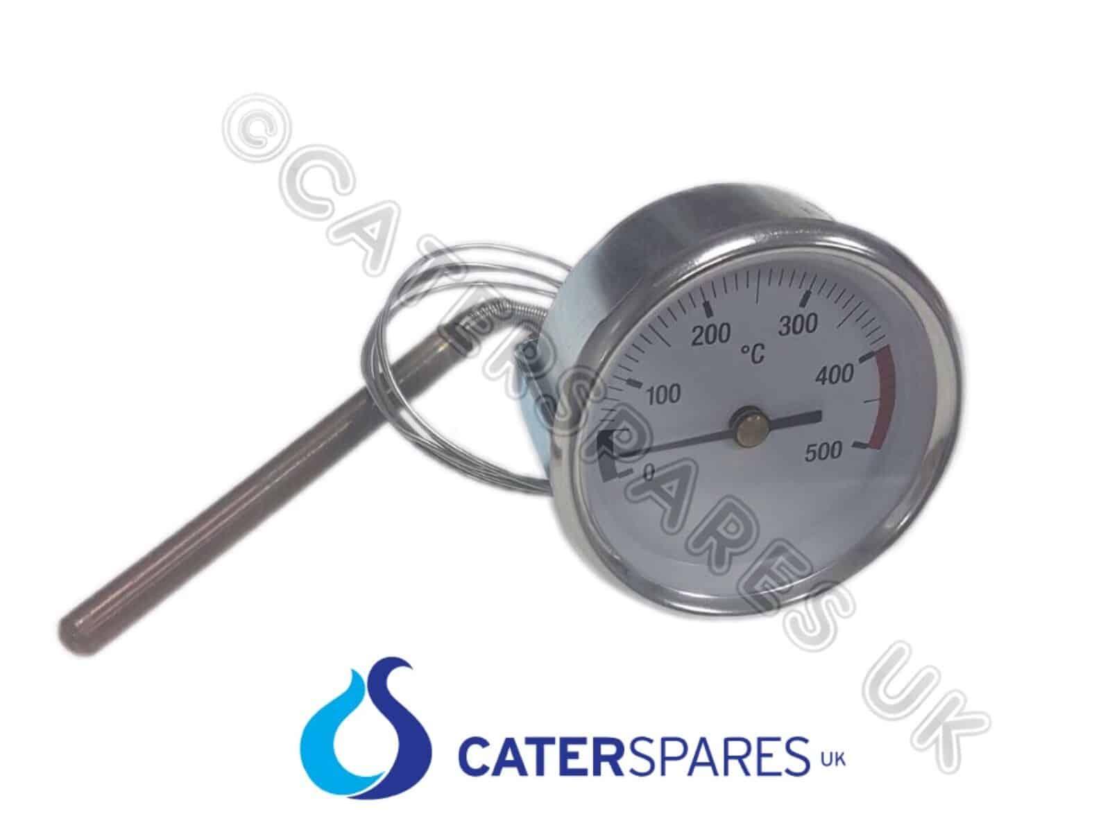 Universal Pizza Oven Thermometer Temperature Display Clock 60mm Diameter 0 500oc Catersparesuk