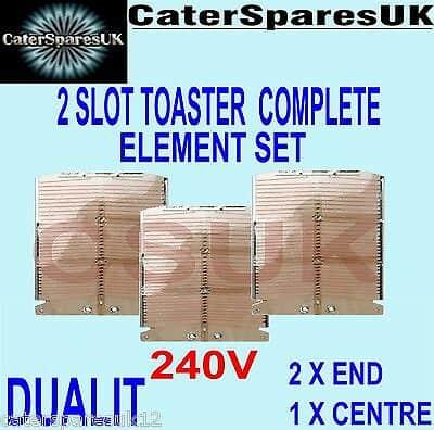 Dualit Toaster 3 Element Set Für 2 Scheiben Toaster Neu Ersatzteile