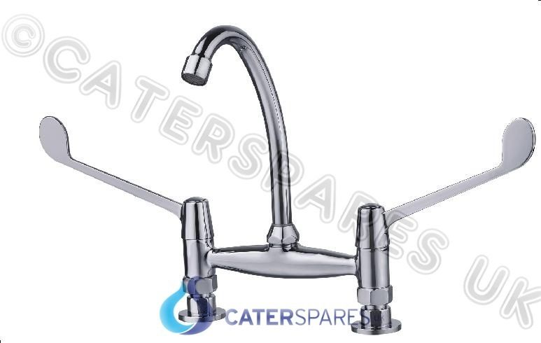 Commercial Catering Kitchen Sink Twin Feed Hot Amp Cold