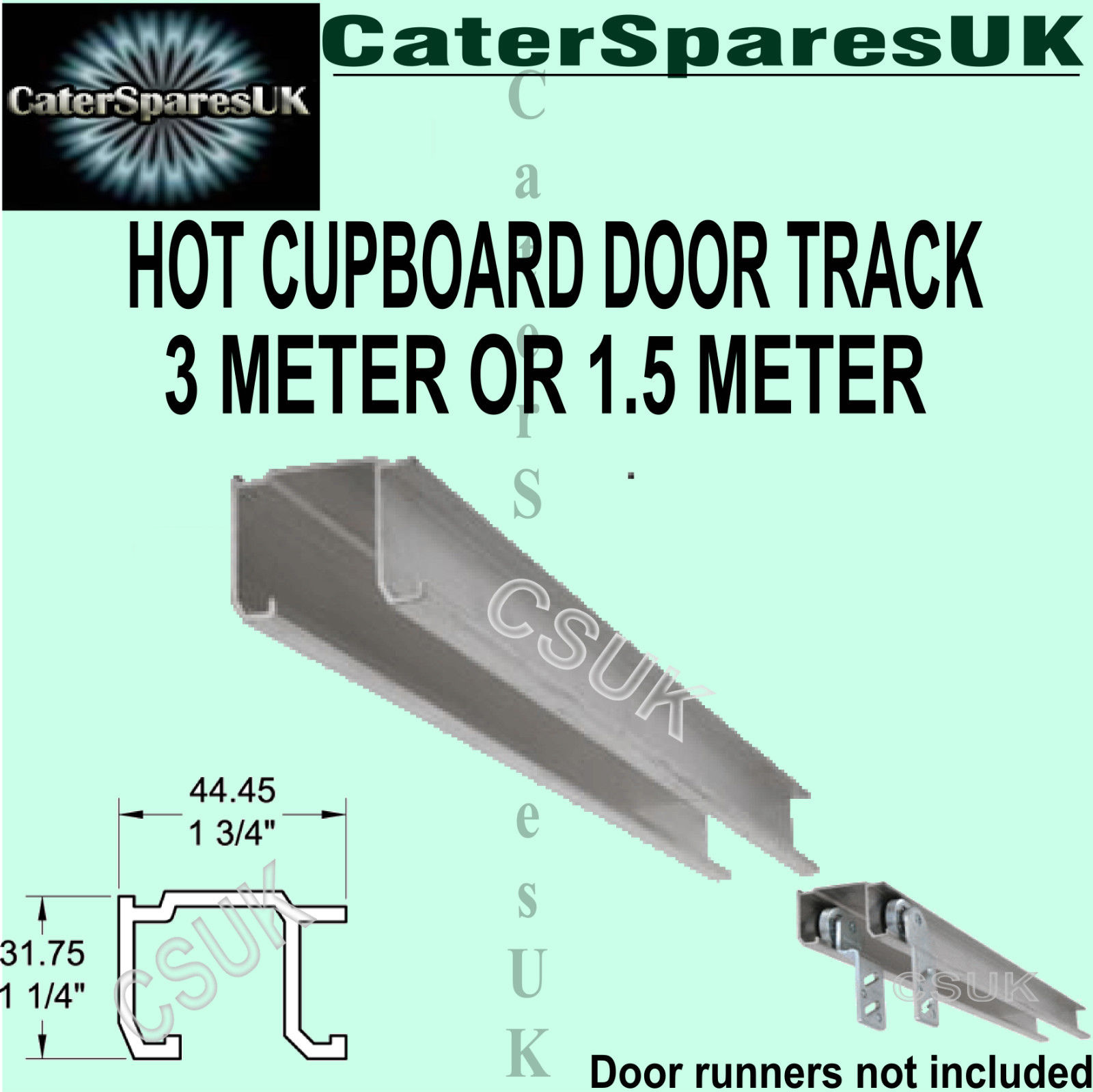 Hot Cupboard Track Sliding Rail Metal 3 Or 1 5 Meter Door