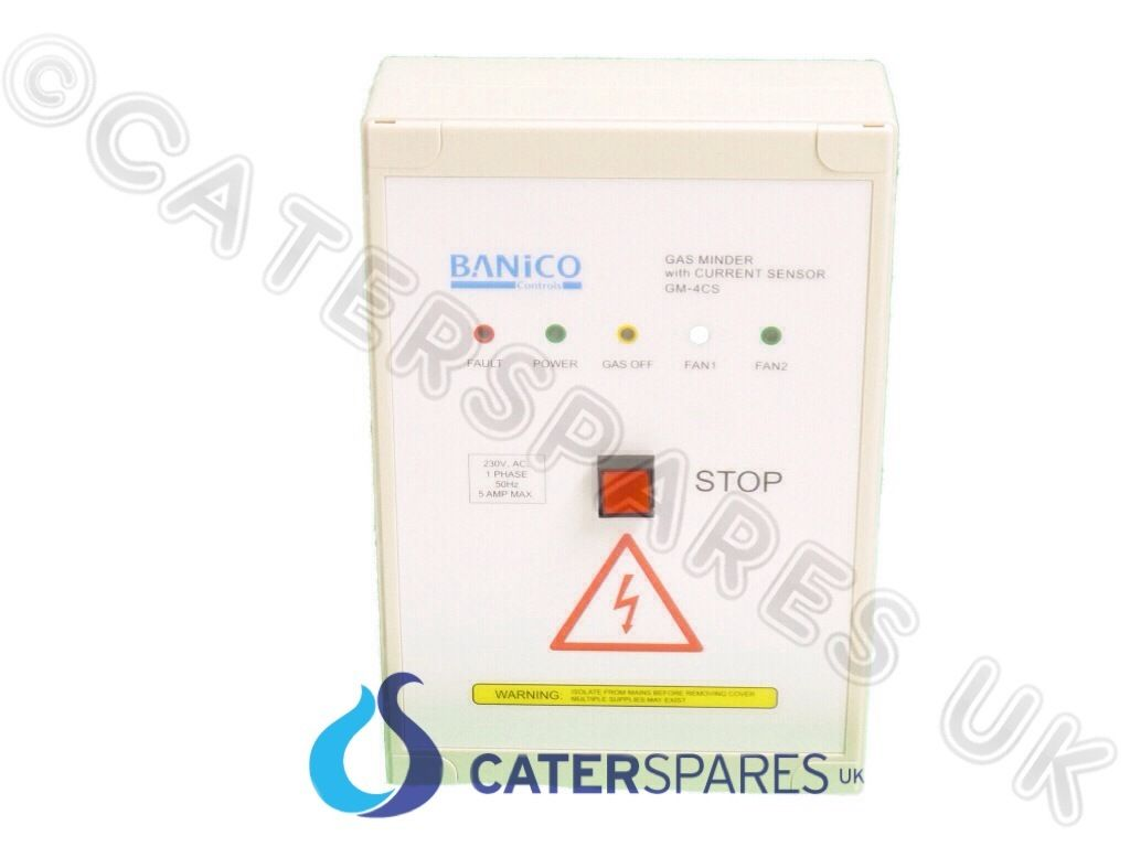 Current Monitoring System : Commercial gas interlock system control panel current